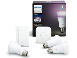 Take advantage of low pricing on Philips Hue Starter Kits with wireless dimmer switches