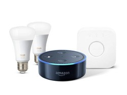 Get the Philips Hue 2-bulb starter kit and an Echo Dot for $120 total