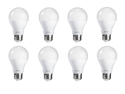 This 8-pack of Philips soft white dimmable LED bulbs is down to just $15