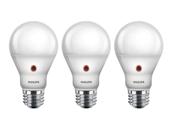 Automate outdoor lighting with three Philips LED Dusk To Dawn Bulbs for $18