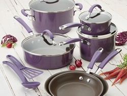 Rachael Ray's 12-piece cookware set is currently 20% off at Amazon