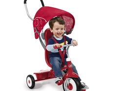 Infants and toddlers can ride on Radio Flyer's $56 versatile 4-in-1 Stroll 'N Trike