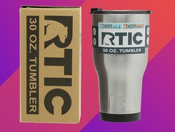 Keep your drink warmer longer with the RTIC 30-ounce Vacuum Insulated Tumbler