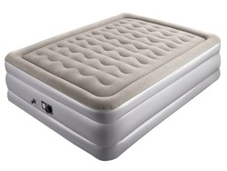 Sleep soundly with the £45 Sable queen size raised air bed with built-in pump