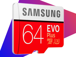 Store up to 64GB of 4K UHD video with Samsung's EVO Plus microSD card