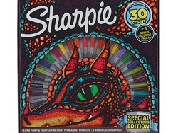 Pick up 30 colorful Sharpie permanent markers and six coloring pages for only $10
