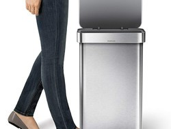 Outfit your kitchen with the 12-gallon Simplehuman Stainless Steel Kitchen Step Trash Can for $108