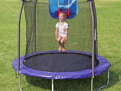 Treat the kiddoes to a Skywalker Jump N' Dunk Trampoline for $129