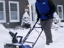 Work smarter not harder this winter with this $185 Snow Joe 22-inch electric snow blower