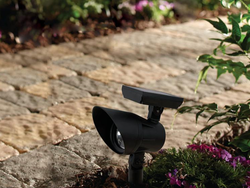 Lighten up the pathway to your home with this $7 solar LED spot light