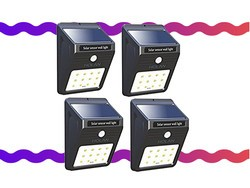 Pay only $18 for a 4-pack of Mulcolor Solar Powered LED Lights