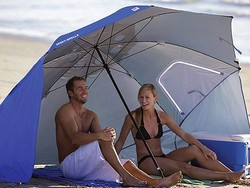 Shield yourself with the $28 Sport-Brella 8-foot Portable All-Weather Canopy Umbrella