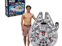 Hop aboard this oversized Star Wars Millennium Falcon Ride-On Float for $16