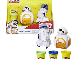 Create C-3PO out of Play-Doh with this $6 Star Wars BB-8 and R2-D2 Set