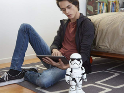 Shut down the resistance forces in your bedroom with the $150 Star Wars Stormtrooper Robot