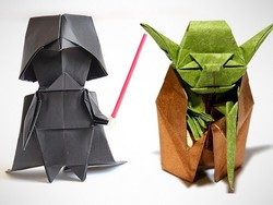 Get the $6 Star Wars Origami book and make a paper Yoda, R2-D2 and more