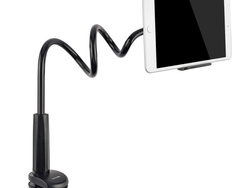 This $14 gooseneck stand can hold your tablet or phone in so many positions