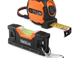 Prepare for DIY tasks with this 26-foot tape measure and torpedo level for just $9