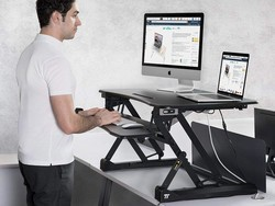 Sit or stand with TaoTronics' $200 electric standing desk converter