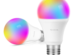 Screw in this two-pack of multi-colored E27 LED smart bulbs for only $10 apiece