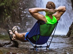 This $40 portable camping chair is designed to not sink into the mud or sand