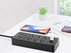 Power up with half off Tessan's USB Power Strip Charging Station