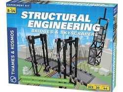 Build 20 unique bridges and skyscrapers with this $30 Thames & Kosmos structural engineering kit