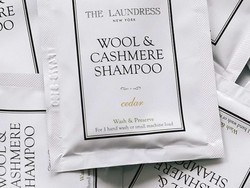 Fill out this form to get a free sample of The Laundress laundry detergent