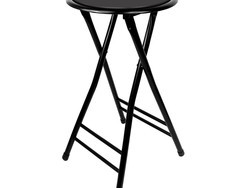 Plop your behind down on this $14 Trademark 24-inch black folding stool