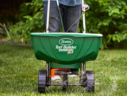 Prep your yard with Scotts' $48 Turf Builder EdgeGuard Deluxe Broadcast Spreader