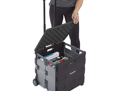 Stroll with up to 65 pounds easily using the $38 MemoryStor Universal Rolling Cart