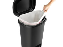 This $10 Rubbermaid 13-gallon Step-on Wastebasket is a trashtastic deal