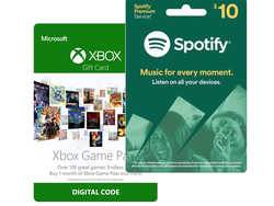 This $10 Spotify gift card includes a free month of Xbox Game Pass