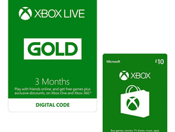 Get a free £10 Xbox gift card when you buy 3 months of Xbox Live Gold