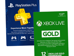 Grab a one-year membership to Xbox Live Gold or PlayStation Plus for $42