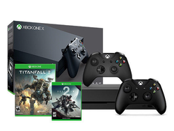 This $445 Xbox One X bundle comes with two controllers and two games