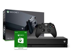 Save $75 on the Xbox One X console and get a free $50 Xbox gift card