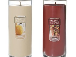 Buy a large pillar candle at Yankee Candle and you'll get two more for free