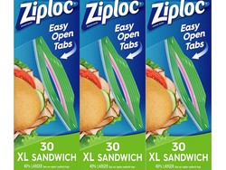 Get ready for cold lunch season with 90 XL Ziploc sandwich bags for $7