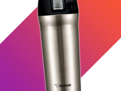 Take Zojirushi's 16oz stainless steel travel mug with you for just $20