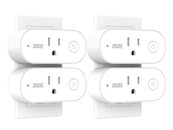 Step into home automation with four Zoozee Mini Smart Plugs at just $8 apiece