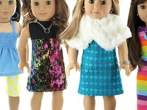 Get 50% off doll outfits for American Girls, Journey Girls, and more