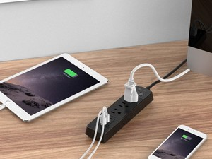 This $13 power strip has three AC outlets and three USB ports