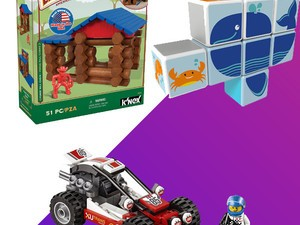 Today only, get deals on Lego, Lincoln Logs, K'nex and more from $8