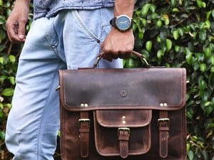 Today you can get genuine Aaron Leather laptop messenger bags for as low as $37