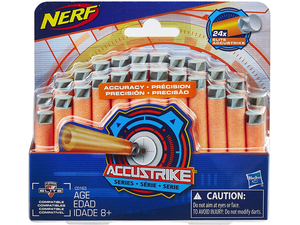 Stock up with 24 Nerf Elite AccuStrike darts for only $4