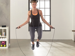 Work on your fitness anywhere with this $2 AmazonBasics Adjustable Jump Rope