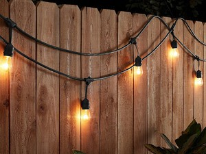 Make the party last all night with these AmazonBasics weatherproof string lights