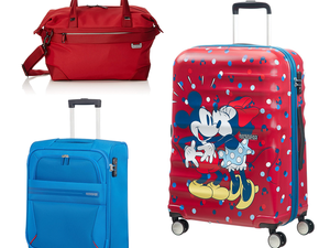 Unpack up to 55% off Samsonite and American Tourister luggage