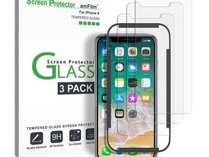 Keep your iPhone X display in tip-top shape with 3 glass protectors for $4